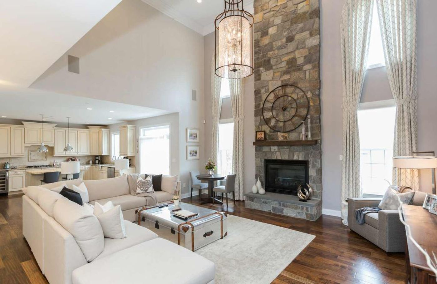 Interior designer christina henck recommends setting up a living room in an open concept such as