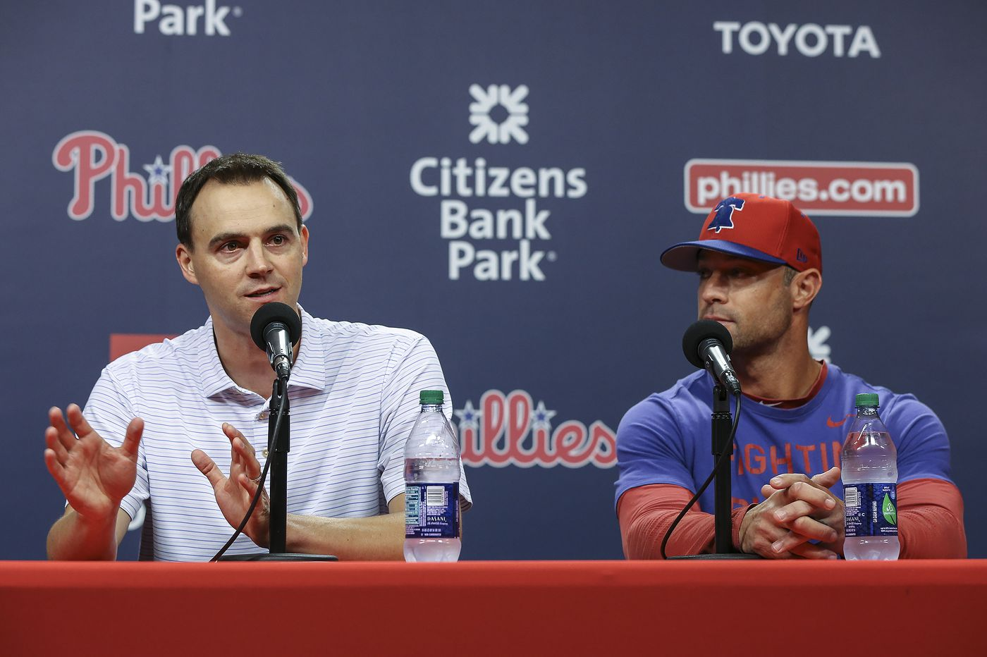 Matt Klentak says Gabe Kapler is 'doing a very good job,' but 'winning is what matters for his job'