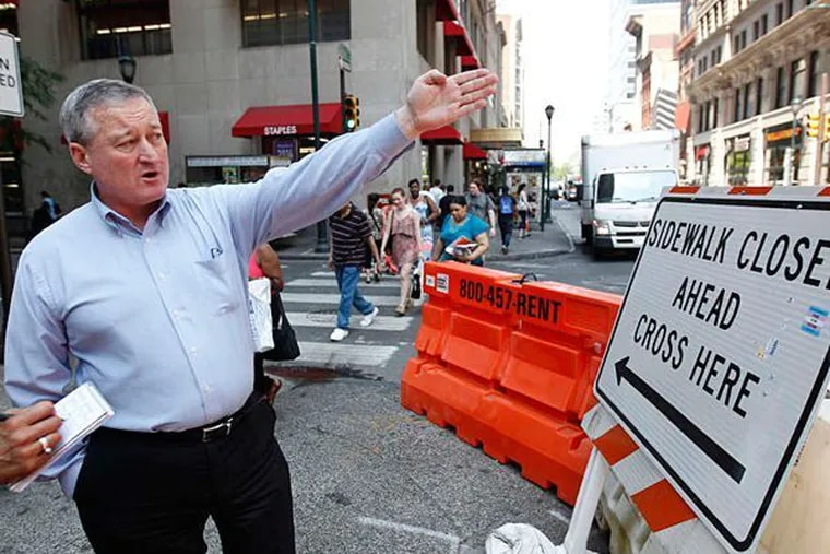 During a walk through the city in 2015, Mayor Kenney promised to take action against contractors who blocked sidewalks during construction without providing pedestrians with a safe area to walk.