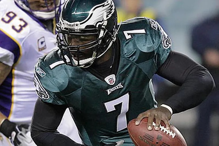 Michael Vick's passer rating has reached triple digits only once since the win at Washington. (David Maialetti/Staff Photographer)