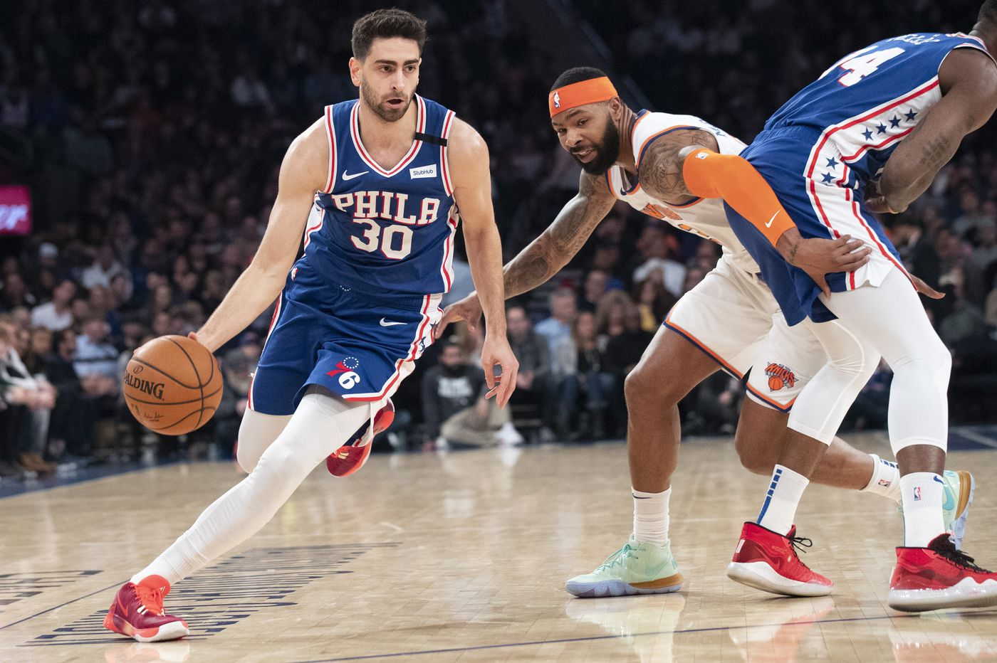 Furkan Korkmaz completes a weekend to remember in the Sixers' 90-87 win at New York