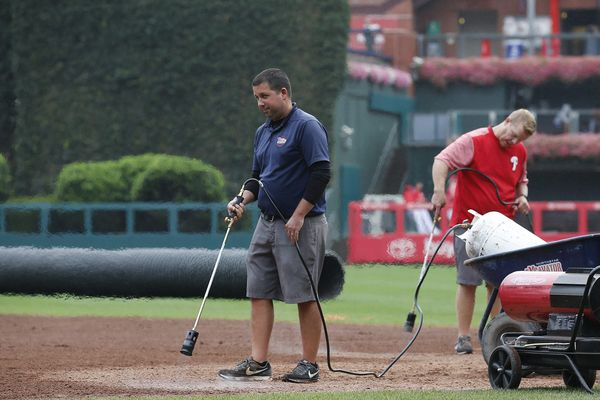 Phillies postponed by wet field; blowtorches fall short
