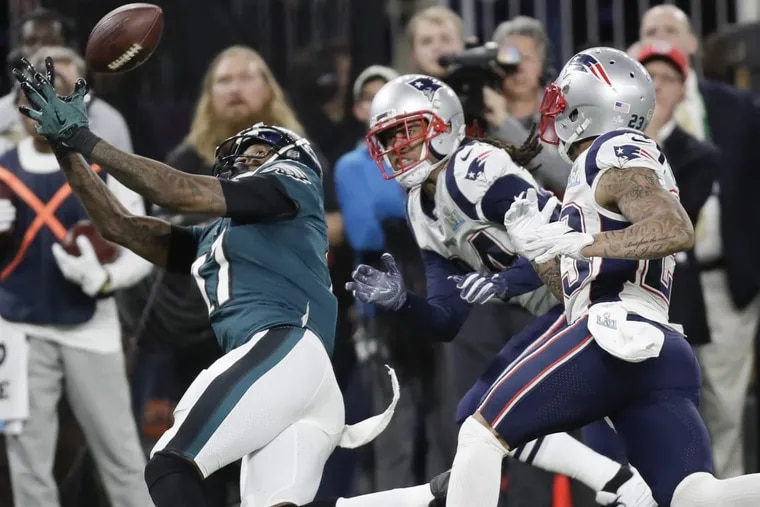 Alshon Jeffery, catching a pass in the Super Bowl, has undergone surgery to repair a torn rotator cuff.