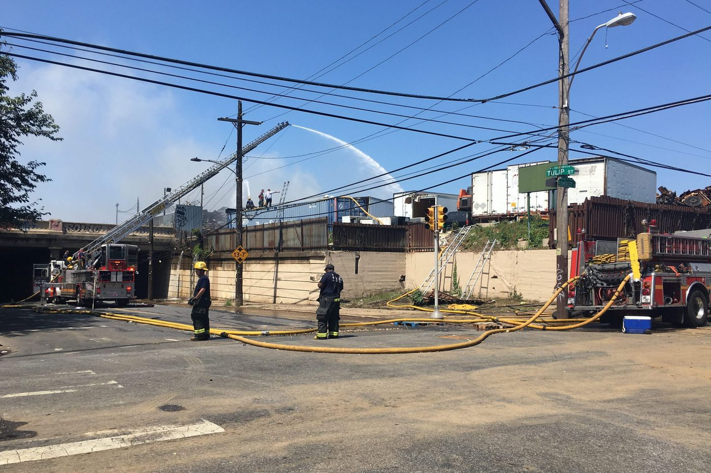 City says scene of Kensington junkyard fire cited multiple times, owners taken to court