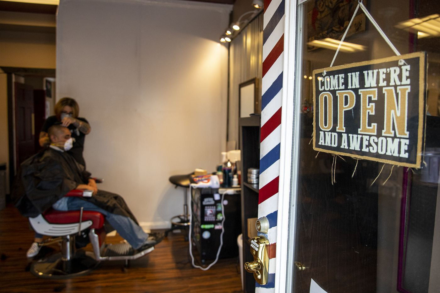 Media barbershop opens in defiance of Gov. Wolf's coronavirus shutdown orders, even though cases in Delaware County show no sign of flattening