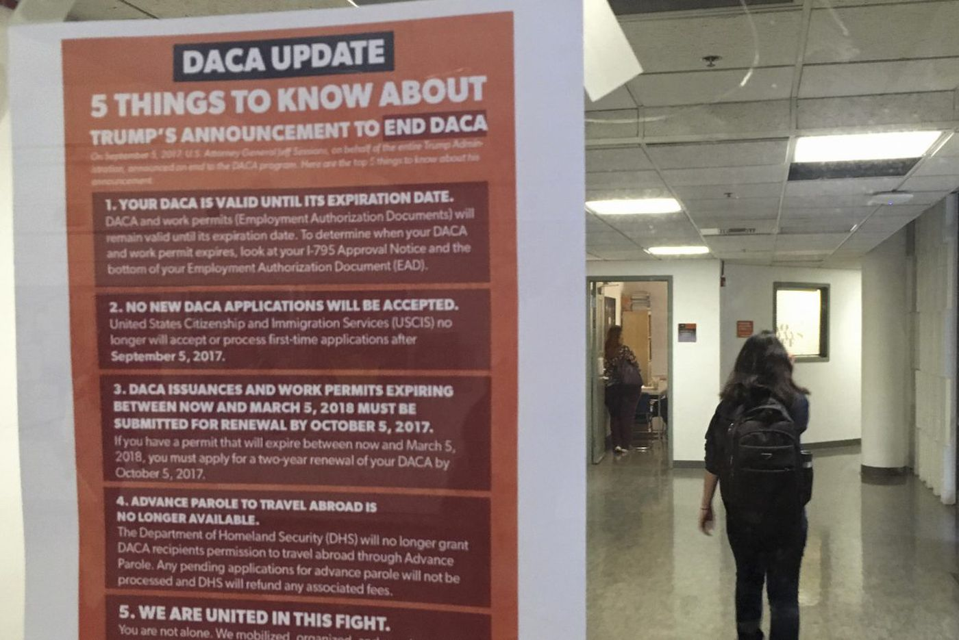 Out of the shadows with DACA, and now plunged into uncertainty