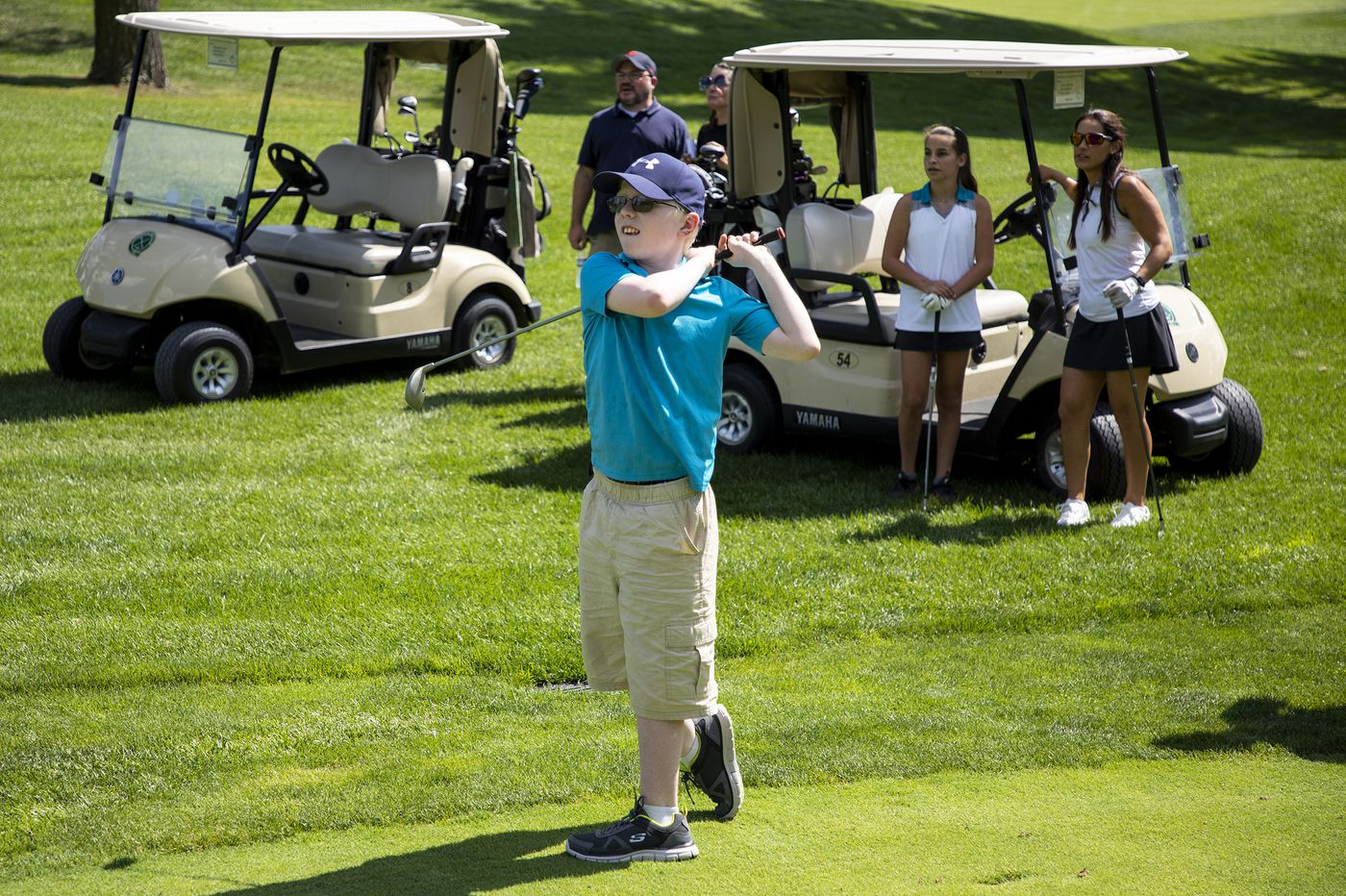 For these visually impaired golfers, impressive scores are par for the course