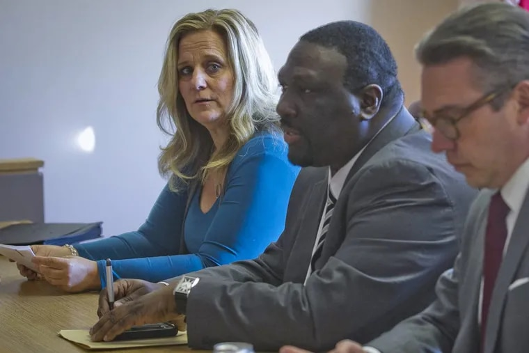From left are City Commissioners Lisa Deeley, Anthony Clark, and Al Schmidt  (File photo)