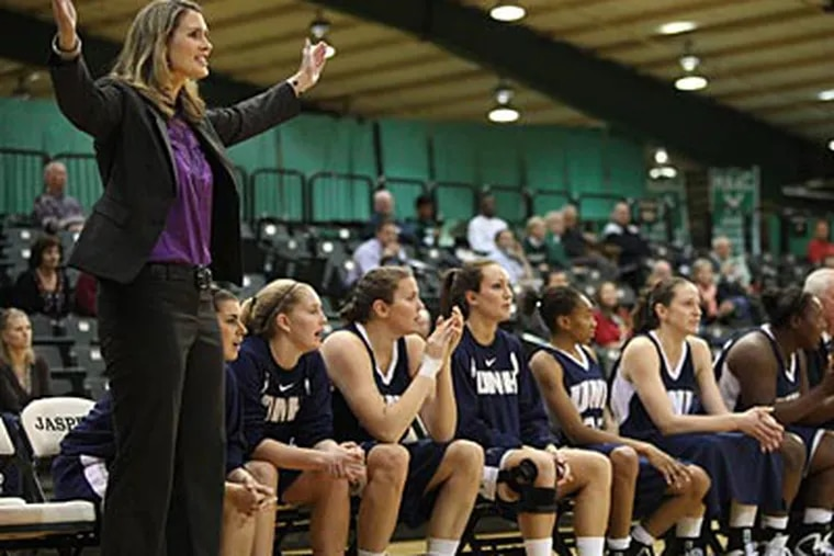 Maureen Magarity coaches the women's basketball team at the University of New Hampshire. (Juliette Lynch/For the Inquirer)