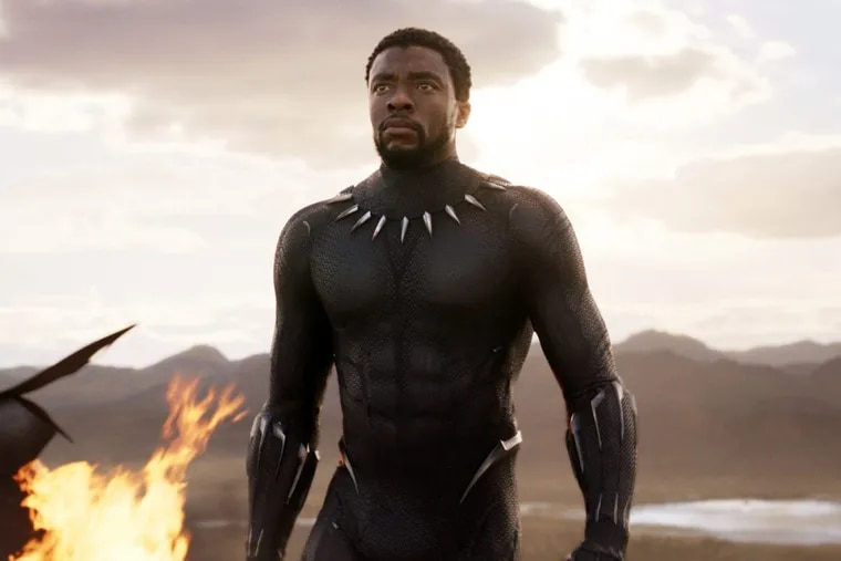 """Chadwick Boseman in a scene from """"Black Panther."""" """"Black Panther"""""""