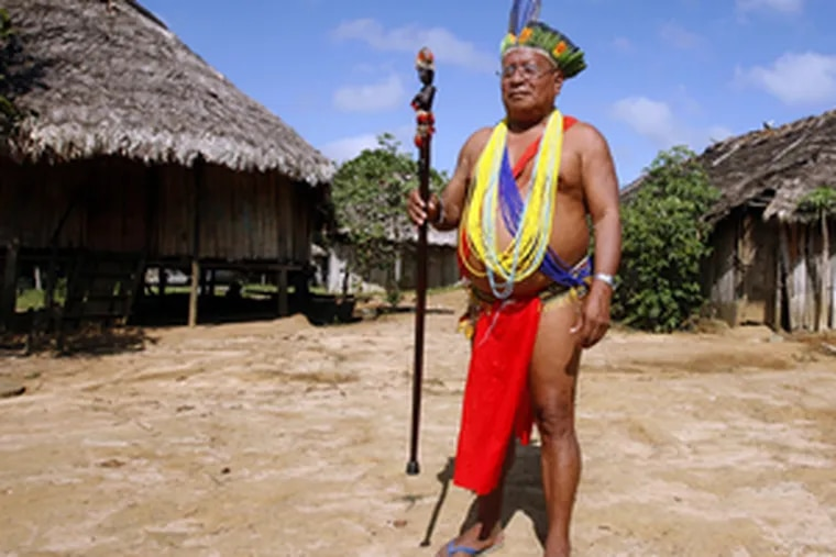 """After hearing of the threat of global warming, Granman (Leader) Alalaparoe of Kwamalasamutu, a village in the Amazonian rain forest, told environmentalists,""""You come to me with this new idea, this carbon issue. This sounds good to me."""""""