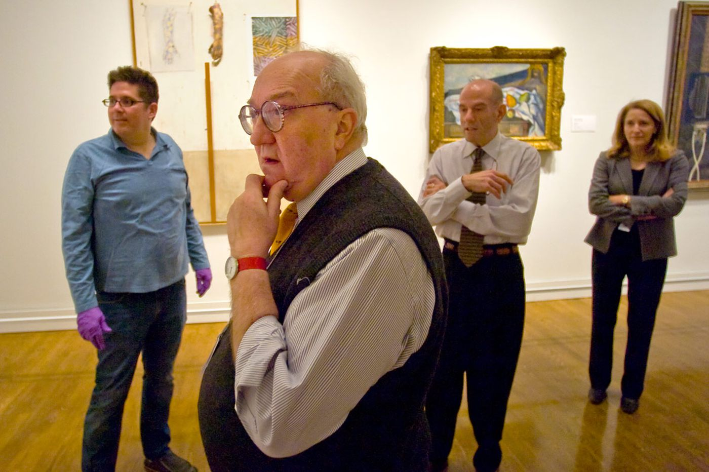 Joe Rishel, curator of just about everything at Art Museum, retires, stops wearing tie