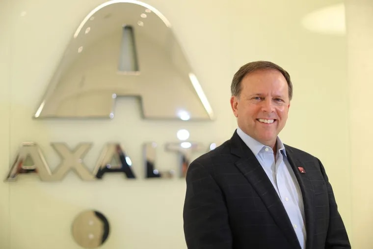 """Charlie Shaver, chief executive, Axalta Coatings. The Philadelphia-based auto paints giant is considering a """"merger of equals"""" with Netherlands-based AkzoNobel."""