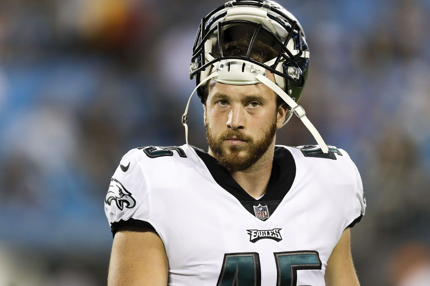 Eagles long snapper Rick Lovato can flex like a gymnast and build a mean Italian hoagie. And, no, no relation to Demi. | Marcus Hayes