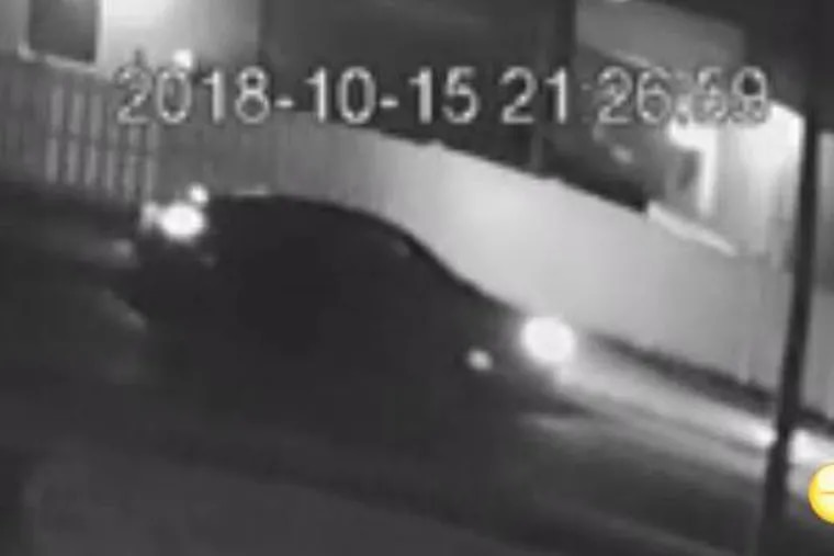 The car of the suspect who police say shot Rithina Torn, 29, of Philadelphia, during a road-rage dispute on Oct. 15, 2018.