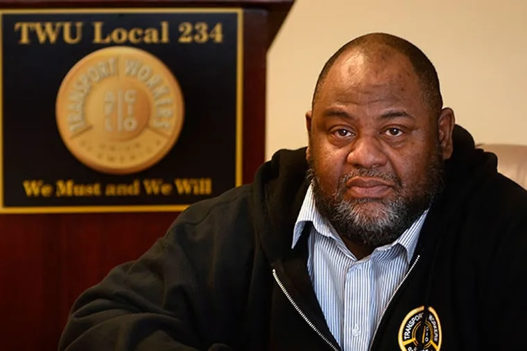"""Willie Brown, controversial president of Transport Workers Union Local 234 and self-described """"most hated man in Philadelphia"""" during the 2009 SEPTA strike talks to the Inquirer at union headquarters March 26, 2014.  ( TOM GRALISH / Staff Photographer )"""