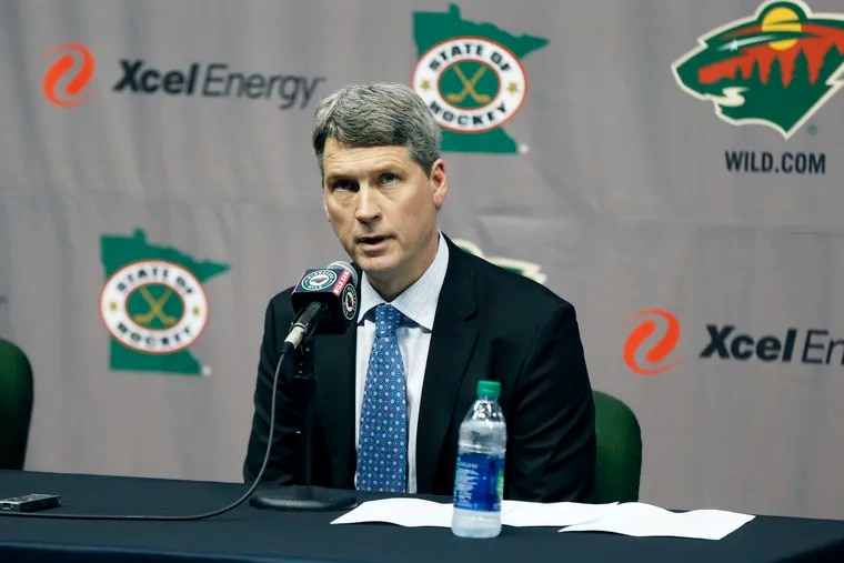 Chuck Fletcher during a Minnesota Wild press conference in May 2016.