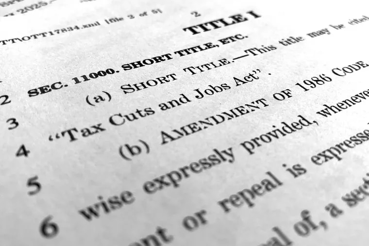 A page from the Republican Senate tax bill, as it existed on Dec. 4. The final version of the Tax Cuts and Jobs Act, approved by both houses of Congress last week, was signed by President Trump on Friday.