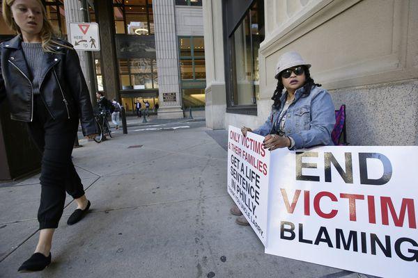 Angry families of murder victims protest DA Larry Krasner   Helen Ubiñas