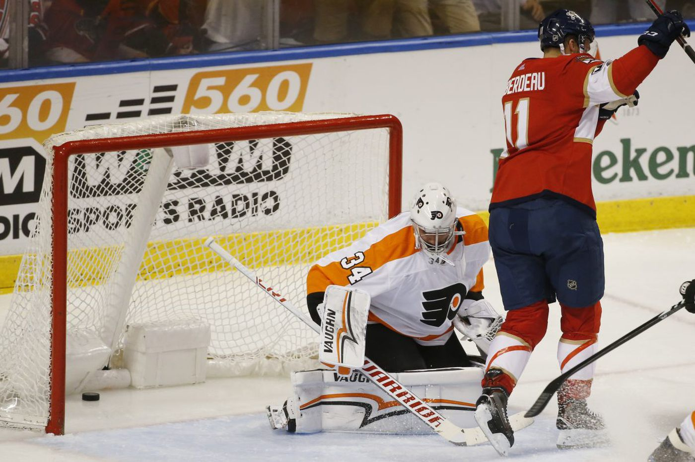 Petr Mrazek, Flyers' defense searching for answers