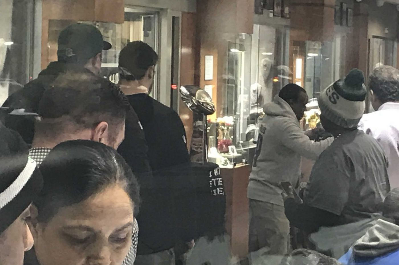 A Lombardi Trophy - and marketing stunt - attracts a long line of Eagles fans