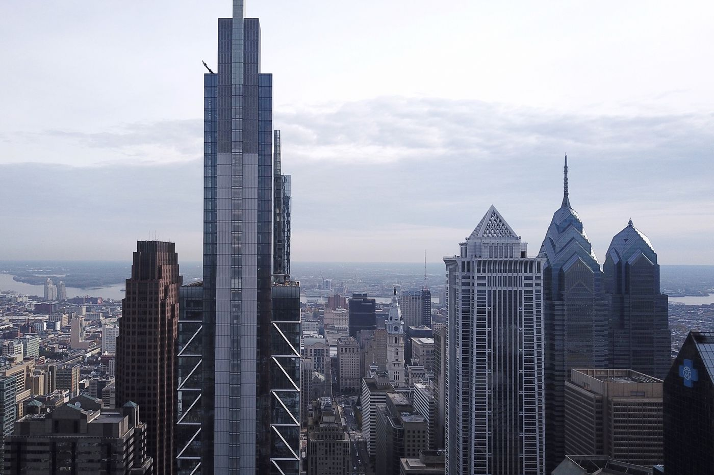 Philadelphia's skyline rising: From a colonial church spire to glassy blue Comcast 2