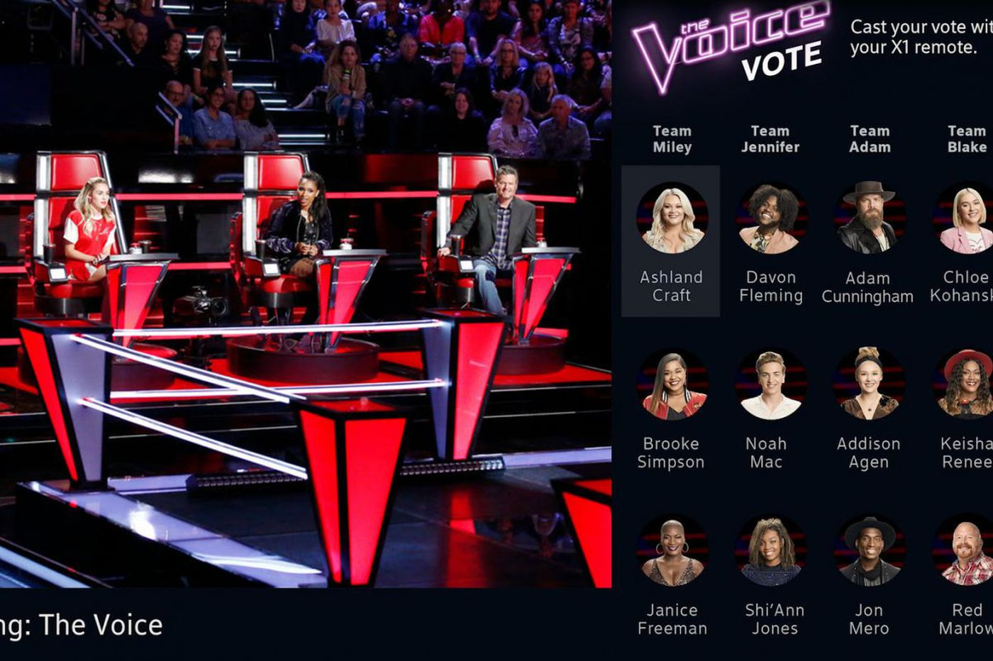 Comcast X1 users can now vote on 'The Voice' with their remotes