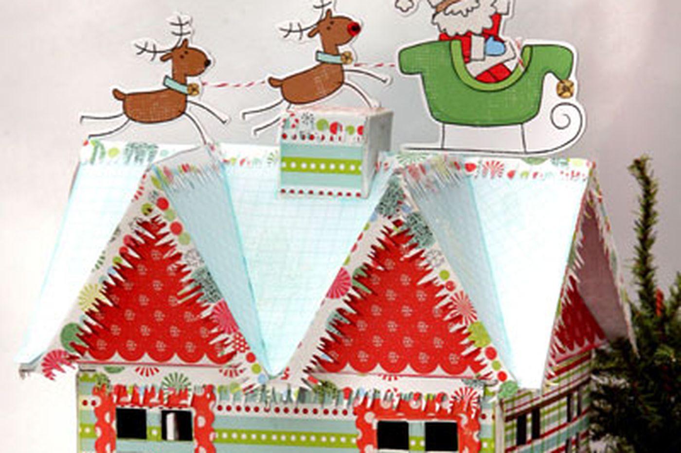 Glittery winter house brightens the season