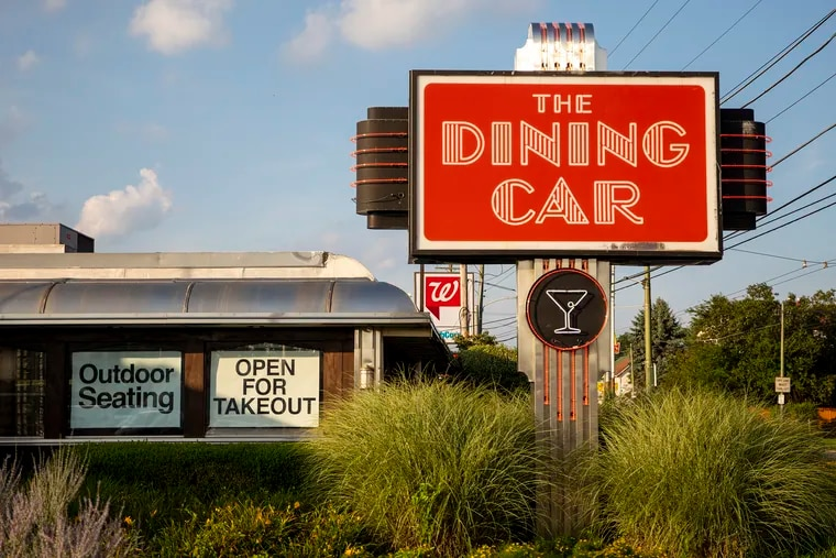 Dining Car diner along Frankford Avenue is open and has adjusted to the coronavirus pandemic with outdoor dining using tents and tables separated for social distancing on Saturday, July 25, 2020.