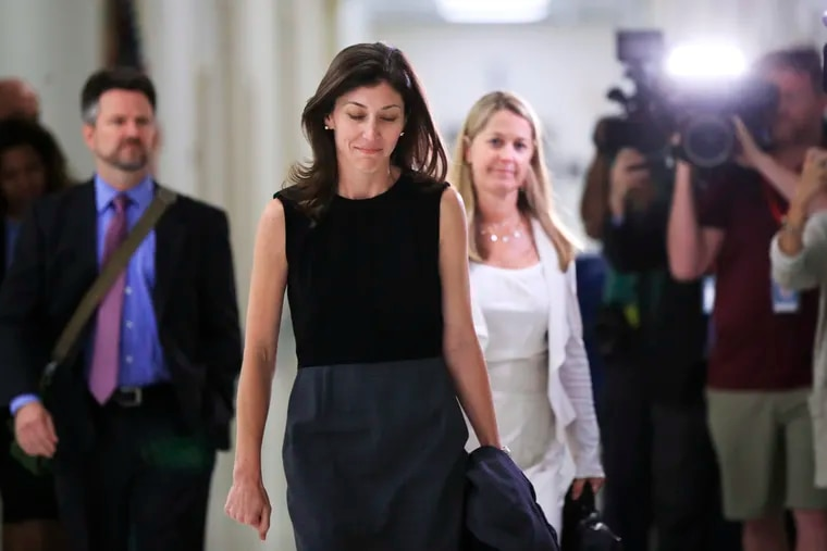 Former FBI lawyer Lisa Page after an interview with lawmakers behind closed doors on Capitol Hill in Washington in July of 2018.