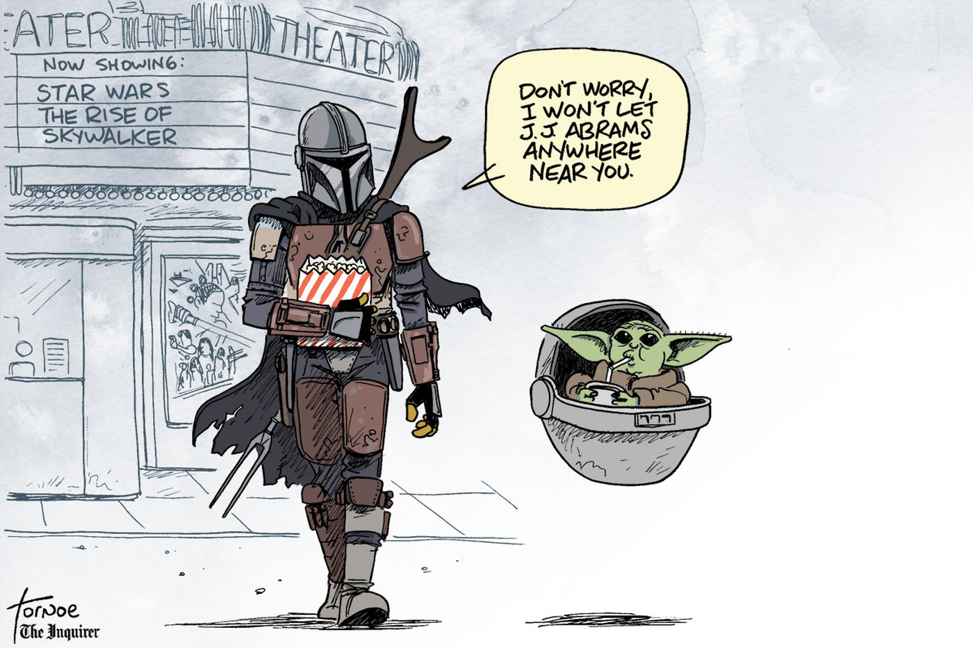 Star Wars cartoon: Baby Yoda and 'The Rise of Skywalker'