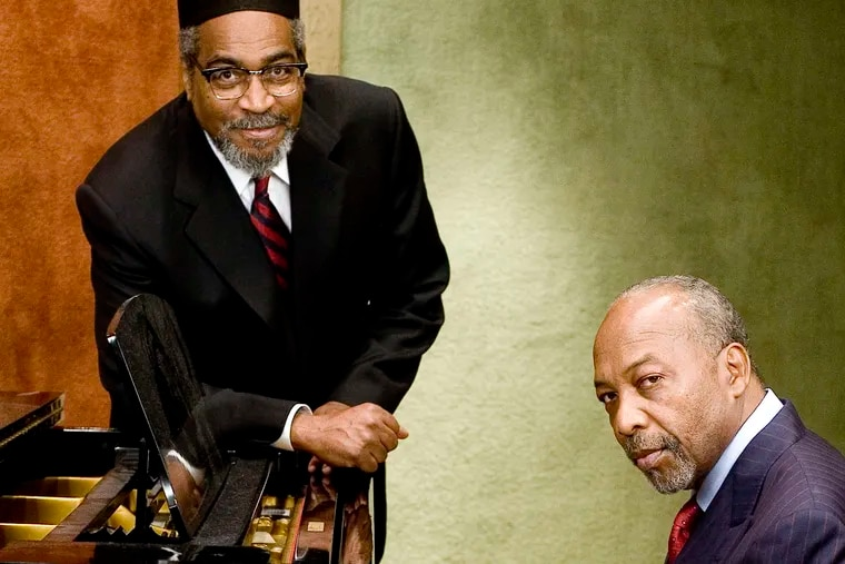 Kenny Gamble and Leon Huff (right), whose Philadelphia International Records produced the Sound of Philadelphia.