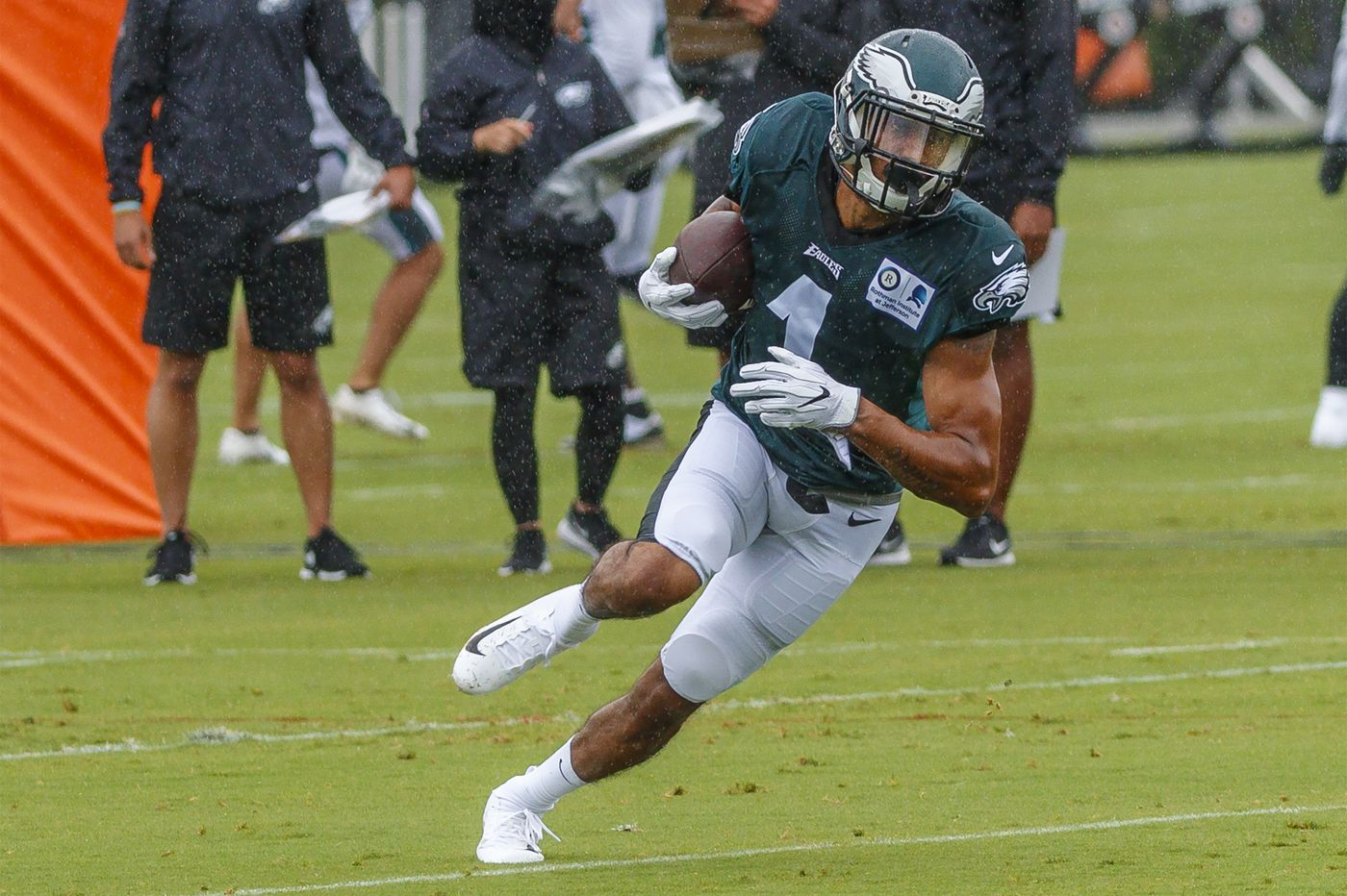 Darius Prince never played college football, but after a successful season in the AFL he's vying for an Eagles roster spot