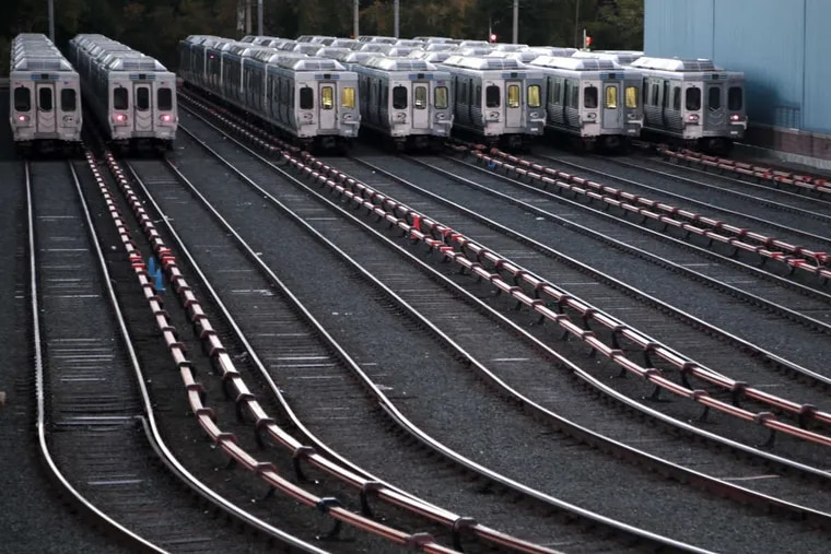Market-Frankford line trains at a SEPTA station. A lawsuit had threatened annual funding the SEPTA depends on.