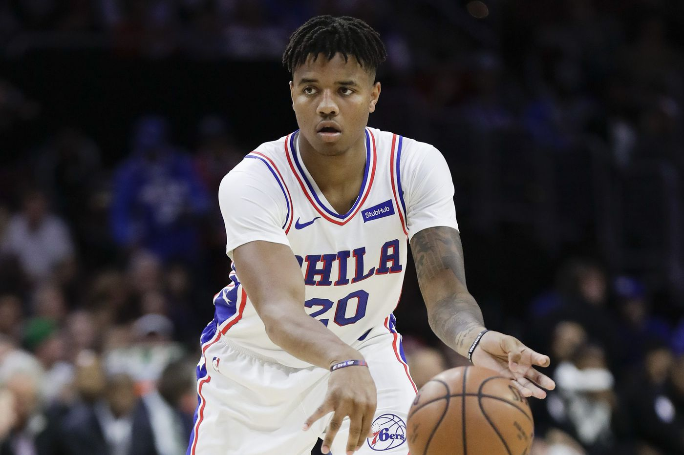 Markelle Fultz tried to shoot a free throw. The video shows it did not go well.
