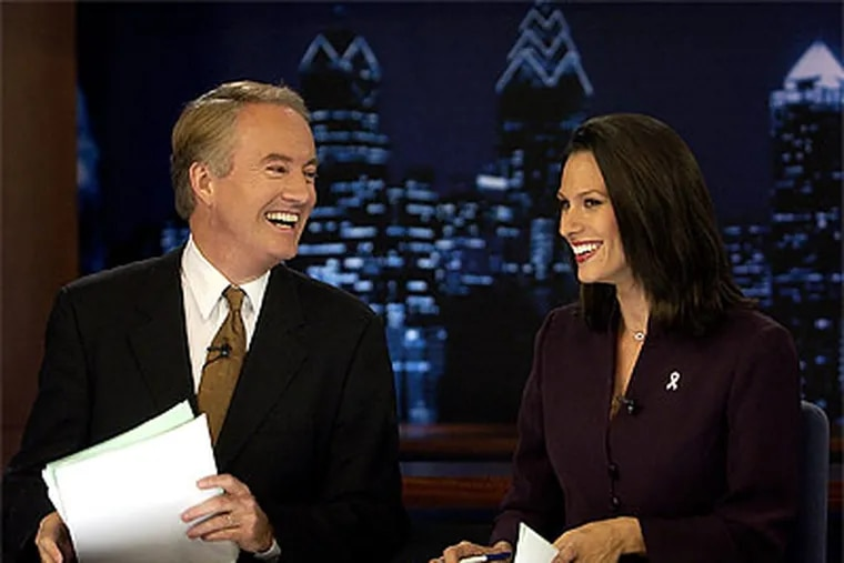 Larry Mendte, now a contributing commentator on WPIX-TV in New York, and Alycia Lane, an anchor on the NBC affiliate in Los Angeles, gave depositions in January. (Peter Tobia/Staff file photo)