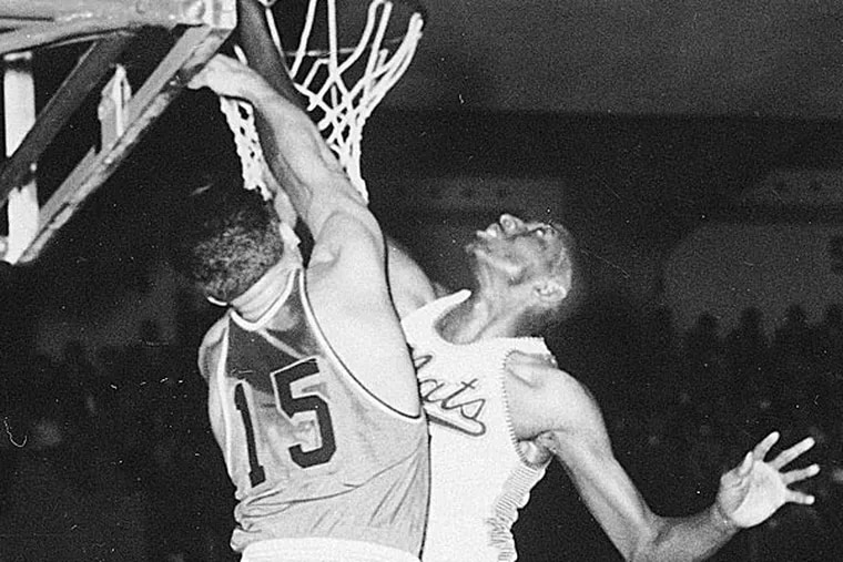 In honor of the 75th anniversary of the NCAA Tournament, the NCAA just put out a list of the 75 greatest players in tournament history. La Salle's Tom Gola missed the cut. (AP file photo)