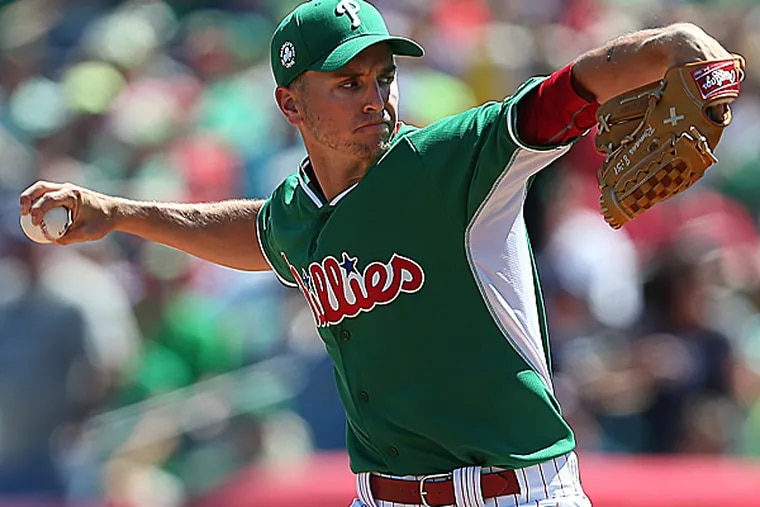 Phillies pitcher David Buchanan. (David Maialetti/Staff Photographer)