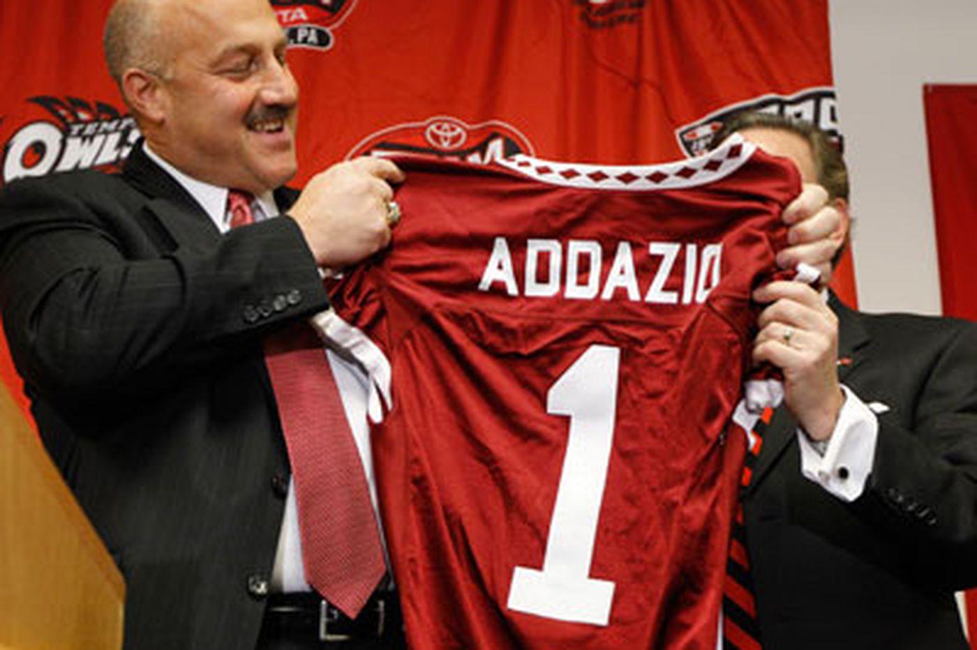Steve Addazio takes over as Temple football coach
