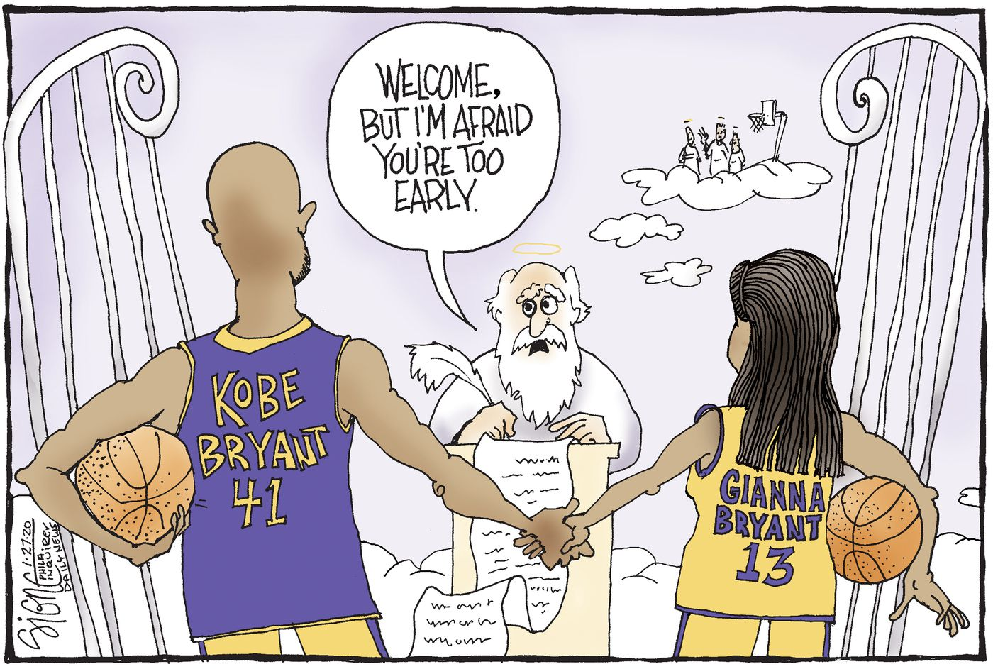 Signe cartoon TOON27 Kobe Bryant