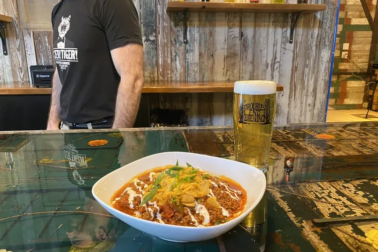Smoked beef chili at Troubles End.