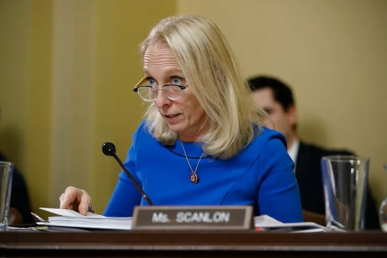 Rep. Mary Gay Scanlon, D-Pa., speaks during a House Rules Committee hearing.