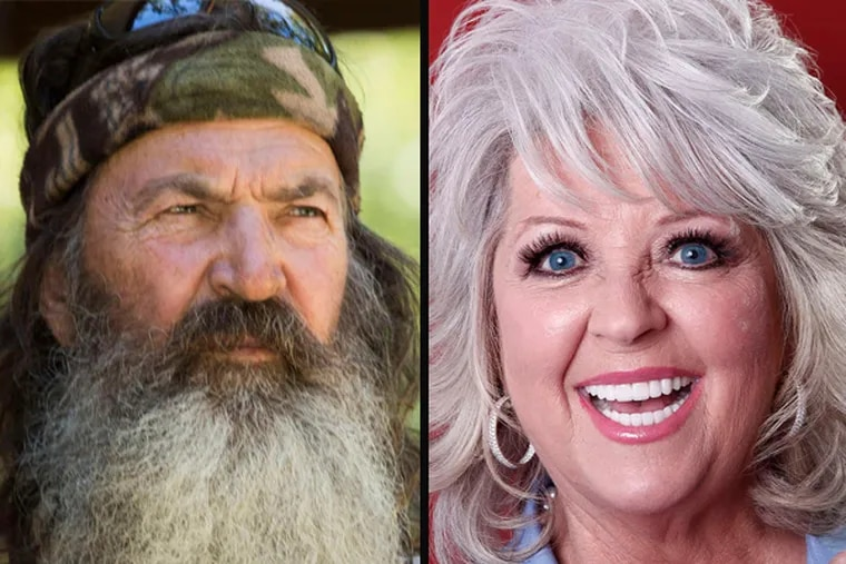 """Phil Robertson of """"Duck Dynasty"""" was put on hiatus from A&E before they reversed their decision, while Paula Deen was dropped by Food Network after admitting to using racial slurs."""