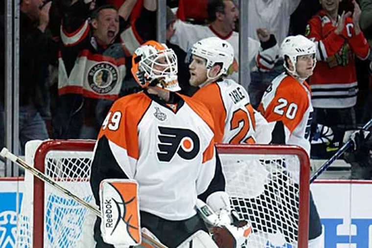 Michael Leighton was a crucial part of the Flyers' run. (Yong Kim / Staff Photographer)