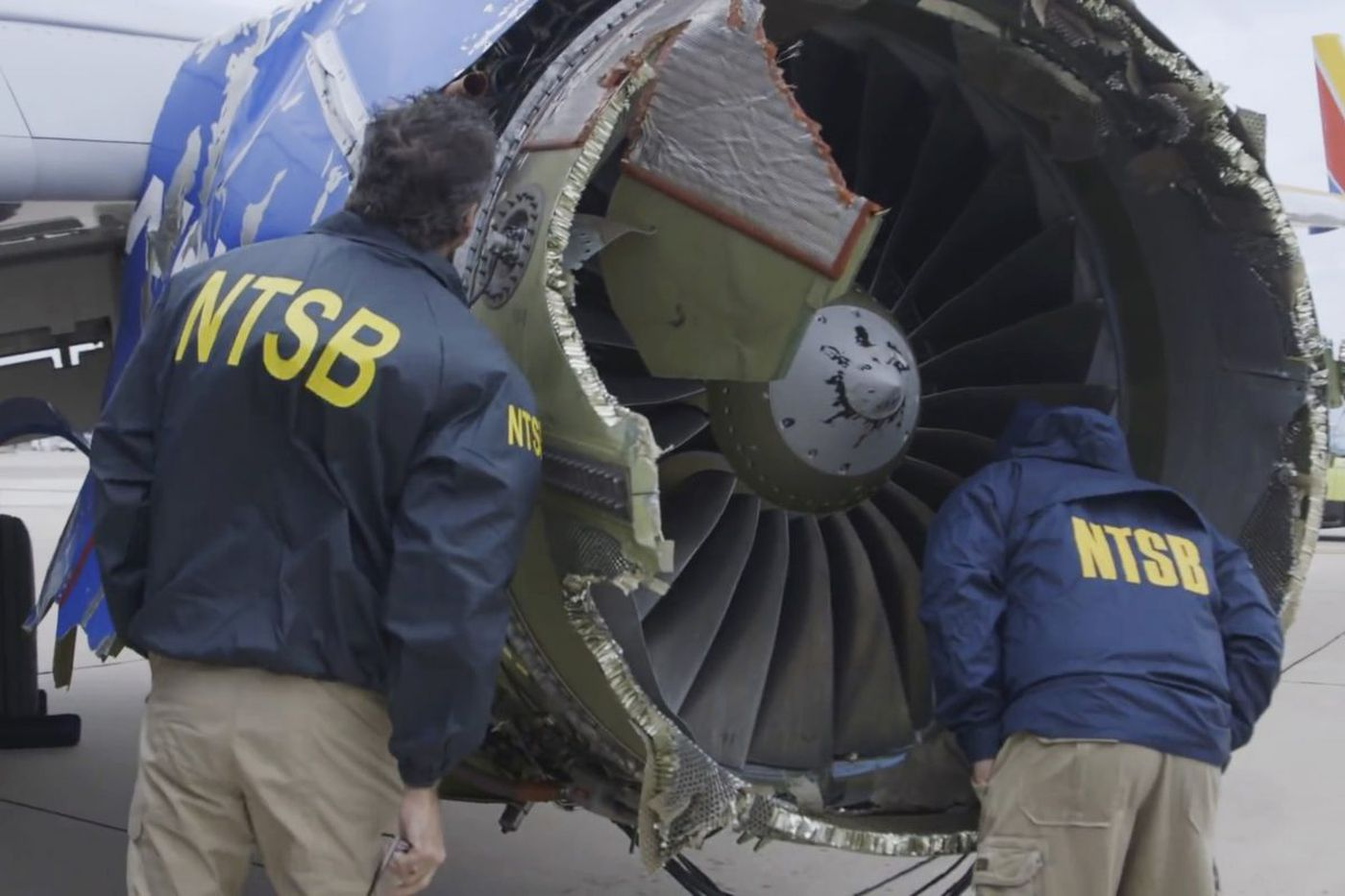 Southwest says inspections turned up no flaws in fan blades