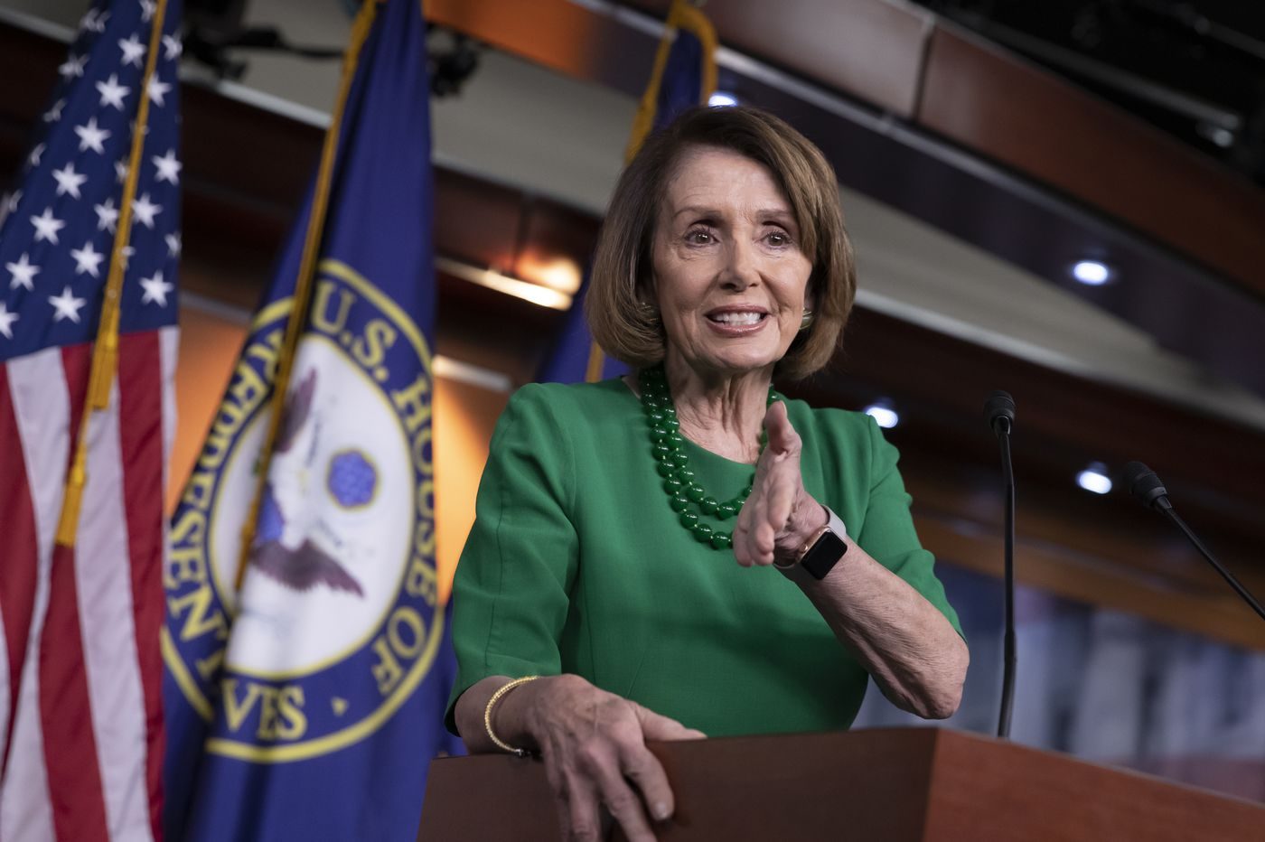 Pelosi takes hard line on paying for Trump's border wall