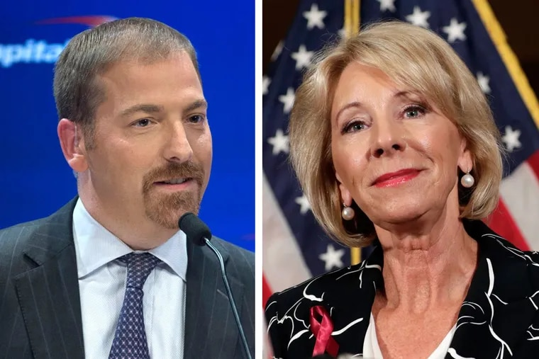 NBC News' Chuck Todd and Education Secretary Betsy DeVos criticized the president for his profane language during a rally in Pennsylvania over the weekend.