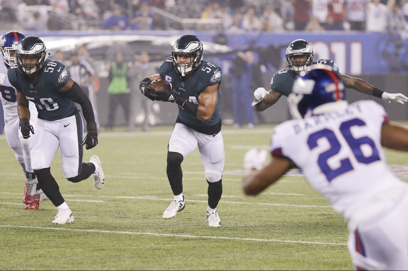 Jordan Hicks and Kamu Grugier-Hill tipped the Eagles off to a fast start in win over Giants