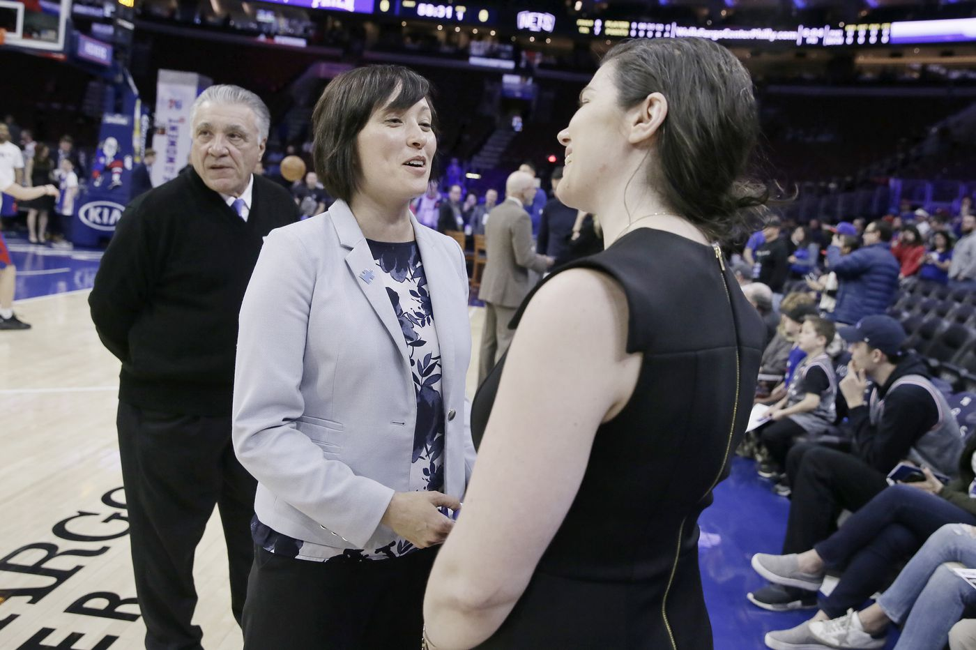 Amy Hever, the Sixers' director of compassion, feels responsibility to lead for her past and for the future