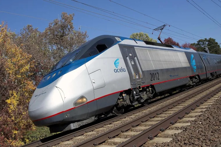 Amtrak Acela train travels through Old Lyme, Conn. The Federal Railroad Administration is proposing significant improvements to the Northeast Corridor.